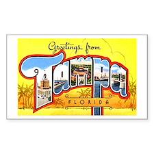 Tampa Florida Greetings Rectangle Decal