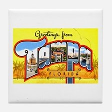 Tampa Florida Greetings Tile Coaster