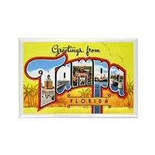 Tampa Florida Greetings Rectangle Magnet