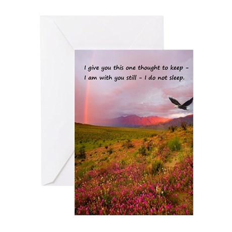 Flowering Meadow - I am with you still Greeting Ca