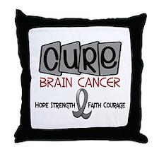 CURE Brain Cancer 1 Throw Pillow