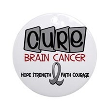 CURE Brain Cancer 1 Ornament (Round)