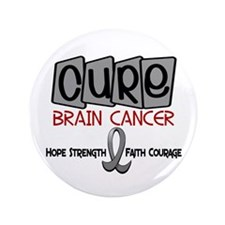 "CURE Brain Cancer 1 3.5"" Button (100 pack)"