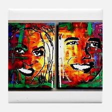 Unique Michelle obama Tile Coaster