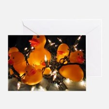 Holiday Lights Ducks Greeting Card