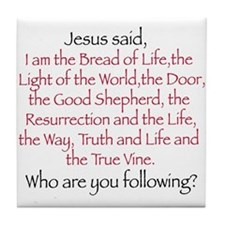 Funny Jesus the way and the truth and the life Tile Coaster