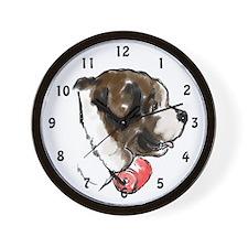 Saint Bernard portrait Wall Clock