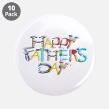 "Happy Father's Day 3.5"" Button (10 pack)"