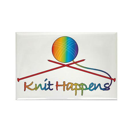 Knit Happens Rectangle Magnet (100 pack)