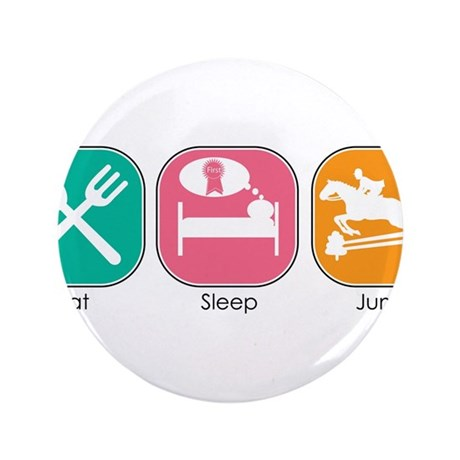 "Eat Sleep Jump 3.5"" Button (100 pack)"