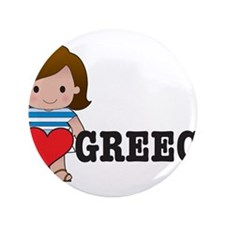 "I Love Greece 3.5"" Button (100 pack)"