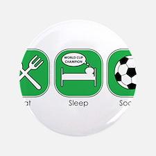 """Eat Sleep SOCCER 3.5"""" Button (100 pack)"""