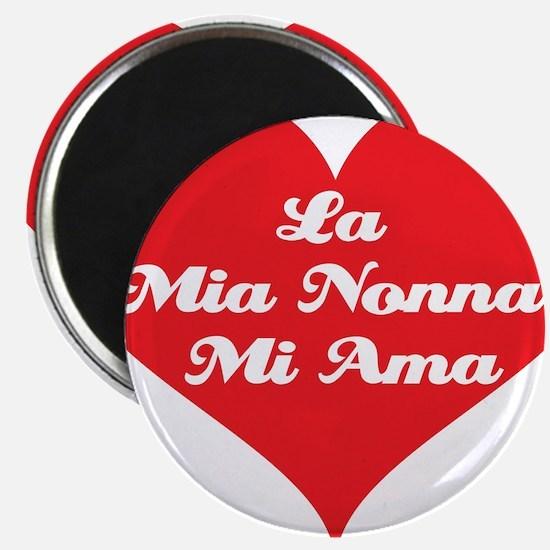 """Grandma Loves Me (Italian) 2.25"""" Magnet (10 pack)"""