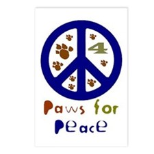 Paws for Peace Navy Postcards (Package of 8)