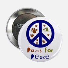 "Paws for Peace Navy 2.25"" Button (100 pack)"