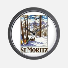 St Moritz Switzerland Wall Clock