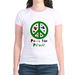 Paws For Peace Green T