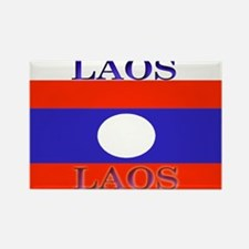 Laos Lao Flag Rectangle Magnet