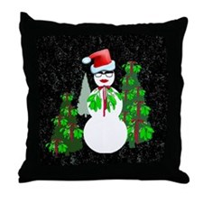Diva Christmas Throw Pillow