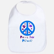 Paws for Peace Blue Bib