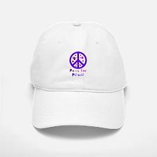 Paws for Peace Purple Baseball Baseball Cap