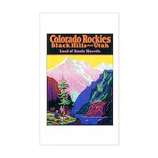 Colorado Rocky Mountains Rectangle Decal