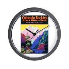 Colorado Rocky Mountains Wall Clock