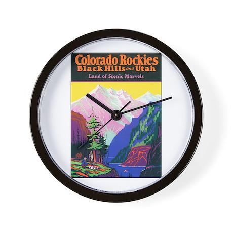 Colorado Rocky Mountains Wall Clock