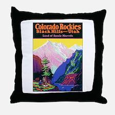 Colorado Rocky Mountains Throw Pillow