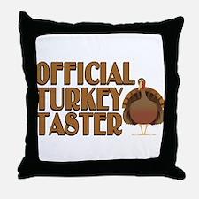 fficial Turkey Taster Throw Pillow
