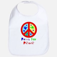 Paws for Peace Red Bib