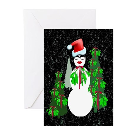Diva Snow woman Greeting Cards (Pk of 10)