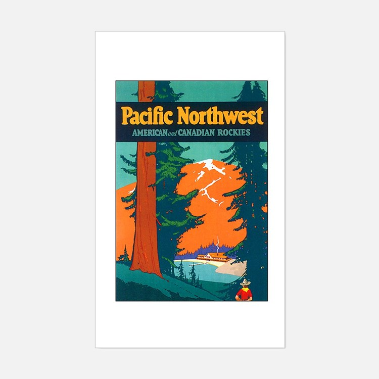 Pacific Northwest Rectangle Decal