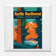 Pacific Northwest Tile Coaster