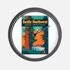 Pacific Northwest Wall Clock