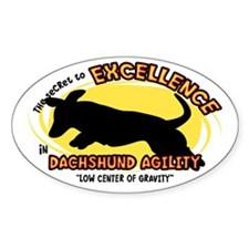 The Secret to Dachshund Agility Oval Decal