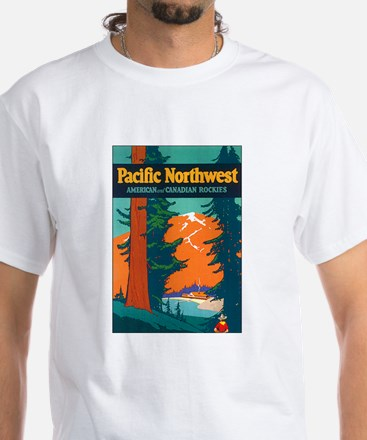 Pacific Northwest (Front) White T-Shirt