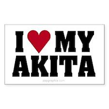 Love My Akita (Rect)