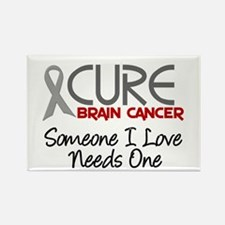 CURE Brain Cancer 2 Rectangle Magnet