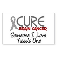 CURE Brain Cancer 2 Rectangle Decal