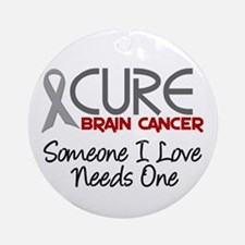 CURE Brain Cancer 2 Ornament (Round)