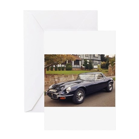 Jaguar E Type Greeting Cards