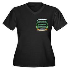 Green Future Women's Plus Size V-Neck Dark T-Shirt