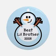 Best Little Brother Snowman Ornament Dated 2008