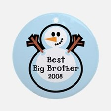 Best Big Brother Snowman Ornament Dated 2008