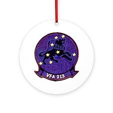 VFA 213 Black Lions Ornament (Round)