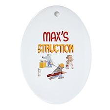 Max's Construction Co. Oval Ornament