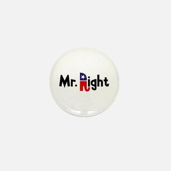 Mr. Right Mini Button