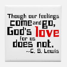 God's Love for Us Tile Coaster