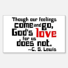 God's Love for Us Rectangle Decal